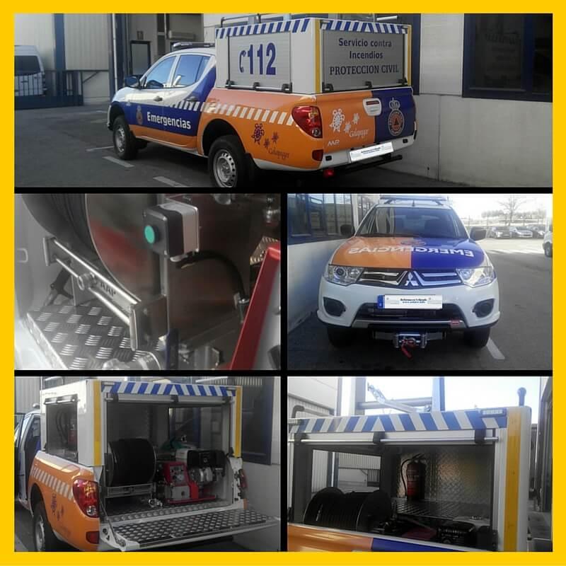 Reforma vehículo contra incendios
